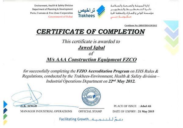 AAA - Welding certificates